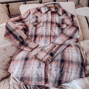 Wrangler Plaid Western Shirt